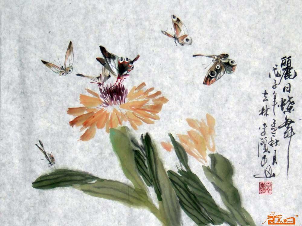 蝴蝶国画步骤图